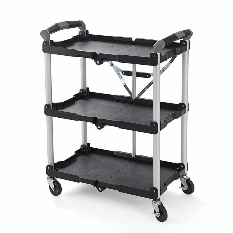 Olympia Tools Pack n Roll Collapsible Storage Service Cart w/ Wheels (For Parts)