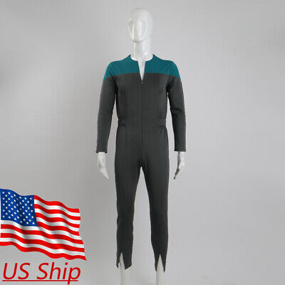 Cosplay Star Trek Deep Space Nine Adult Male Blue Uniform Jumpsuit Costumes New - Startrek Costume