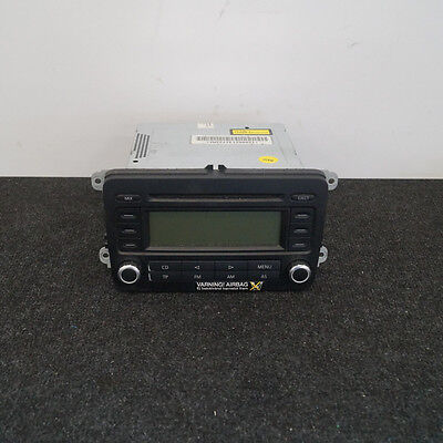 VW Golf Plus AM FM Menu CD Player Head Unit 5M0035186A 2009