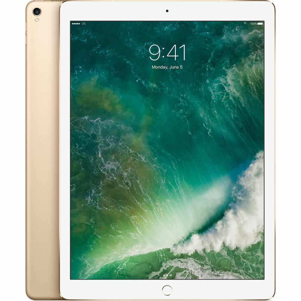 "Apple 12.9"" iPad Pro Mid 2017 512GB, Wi-Fi + 4G LTE, Gold Ta"