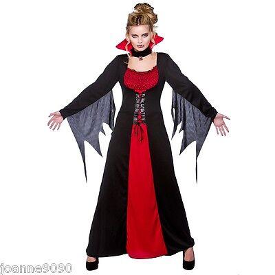 mujer clásico Vampira novia de Drácula Halloween Disfraz (Disfraz De Halloween Vampira)
