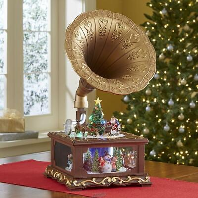 The Animated Christmas Gramophone Musical Music Box