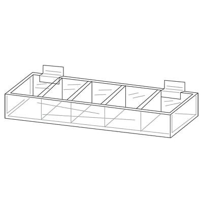 Five Pocket Acrylic Display Trays For Slatwall 29994