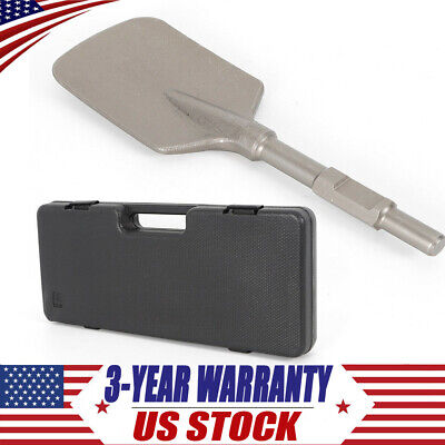 New Pointed Chisel Jack Hammer Shovel Spade Cutter Chisel Tipped Hardness Silver