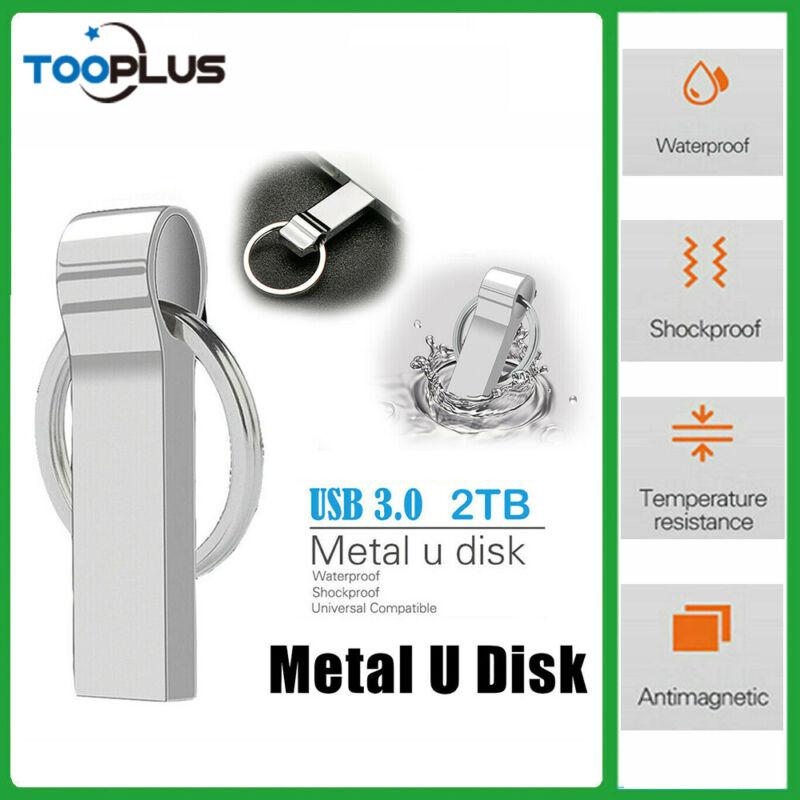 Metal 2TB USB 3.0 Flash Drive Thumb U  Disk Memory Stick Pen PC Laptop Storage
