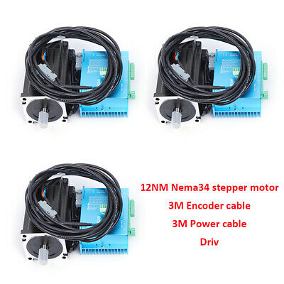 Qualified 12nm 3axis Nema34 Motor Closed Loop Stepper Drive Kit 86hbs120 Motion