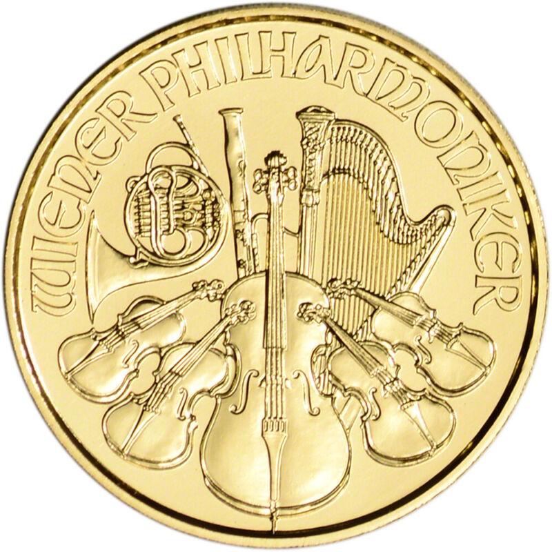 2021 Austria Gold Philharmonic 1/10 oz 10 Euro - BU