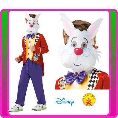 Alice In Wonderland Costume For Boys (Child White Rabbit Alice in Wonderland Costume Kids Boys Girls Easter Book Week)