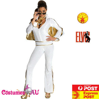 Ladies Elvis Presley Costume Secret Wishes 50s 1950s Rock N Roll Fancy - Female Elvis Costumes