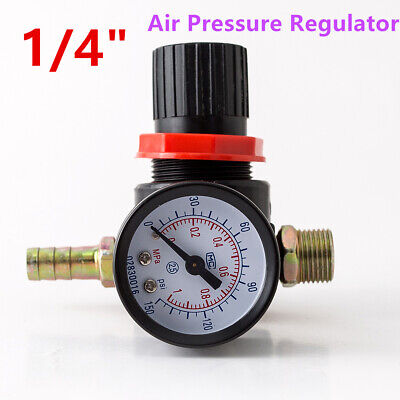 14 Mini Air Pressure Regulator Wgauge Hvlp Paint Spray Valve Adjuster 145psi