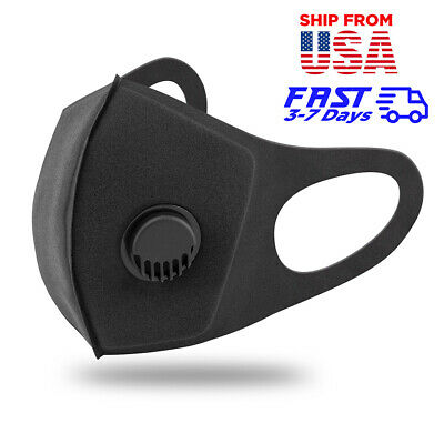 Reusable Air Purifying Face Mask With Activated Carbon Filter Black Respirator