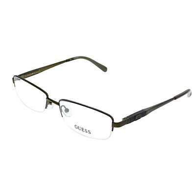 New Authentic Guess GU 1816 BRN Brown Metal Semi-Rimless Eyeglasses (Guess Rimless Glasses)