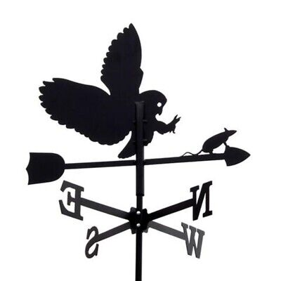 Standard Owl and Mouse Metal Weathervane (Post Fixing Bracket)