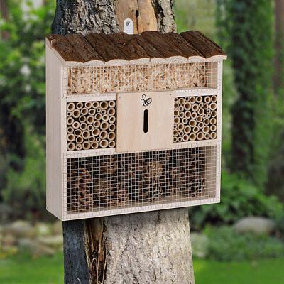 DEUBA® Insektenhotel 31x31cm Brutkasten Schmetterlinge Bienen Insektenhaus Holz