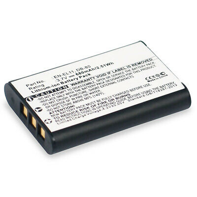 Bateria para Sony Action-Cam HDR-AZ1 HDR-PJ620 Action-Cam HDR-AZ1VR 600mAh