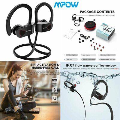 Mpow Bluetooth IPX7 Earbuds Best Wireless Headphones HiFi Stereo Sports (Best Hifi Bluetooth Headphones)