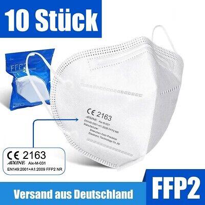 FFP2 Maske Mundschutz Masken Atemschutz 5-lagig Gesichtsschutz zertifiziert