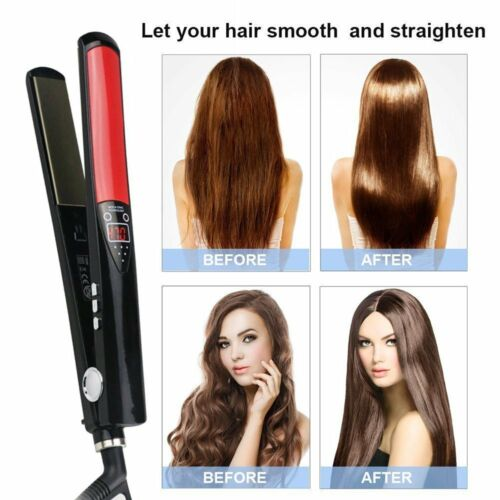 Professional Hair Straightener Hair Salon Flat Iron Straightening Style LCD US Hair Care & Styling