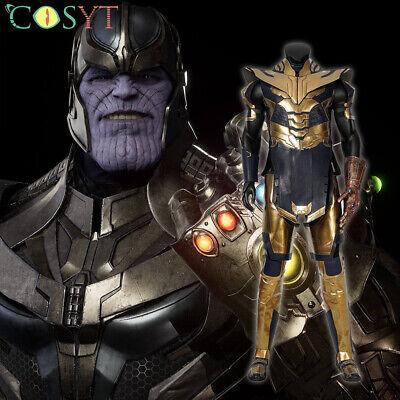 Avengers 4 Endgame Thanos Deluxe Cosplay Costume Halloween Full Set Lot](Full Set Halloween Costumes)