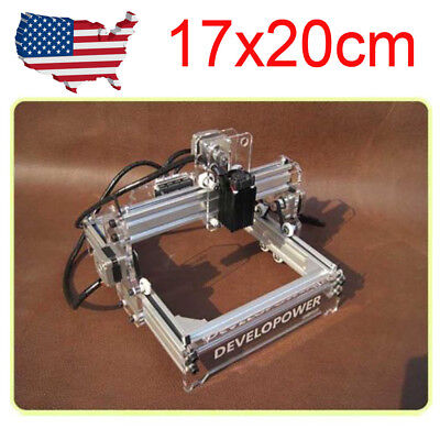 Usa Diy Laser 17x20cm Engraving Machine Blue-violet Cnc Engraver Cutter