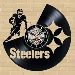 Pittsburgh Steelers NFL Exclusive Made Vinyl Record Wall Clock