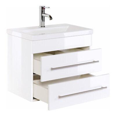 Waschtisch-waschbecken (Badmöbel Waschtisch Waschbecken Mars Slimline 3 Größen 7 Farben Softclose Modern)