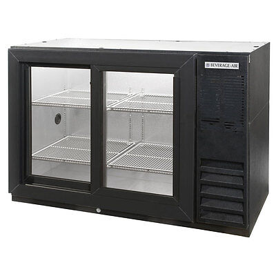 Beverage Air Bb48gsy-1-b 48-inch Back Bar Cooler With 2 Glass Doors Ul Culus