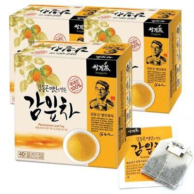 Korean herbal Persimmon Leaf Tea (40T x 3 Box) 120 Tea bags / Vitamin C, Rutin