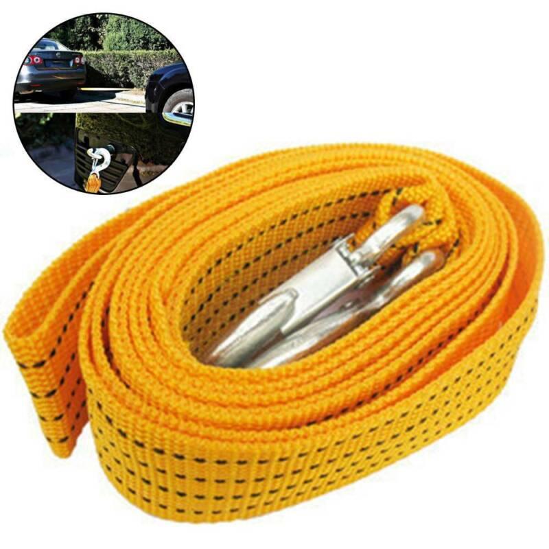 Robustes Abschleppseil 5000 kg 4 Meter | 5 Tonnen Stahlhaken Abschlepp Seil
