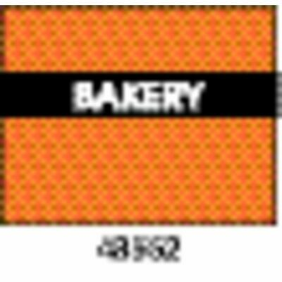 Monarch Orange Labels With Reversed Black Print Bakery For 1115 2-line Pricing