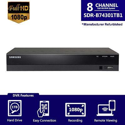 SDR-B74301-1TB REF - Samsung 8CH 1080p Full HD DVR w/ Accessories