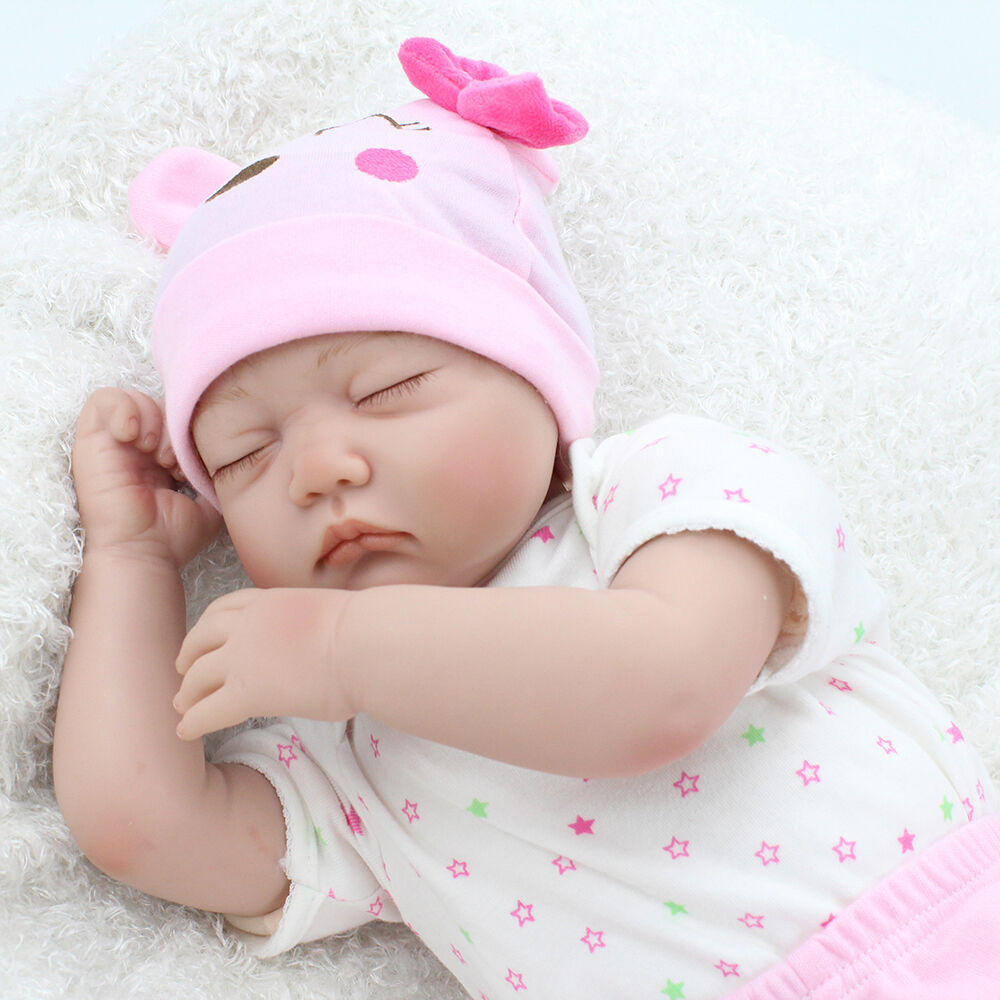 "10/"" Handmade Real Looking Baby Girl Soft Vinyl Realistic Life Like Reborn Dolls"