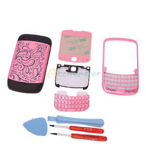 New Replacement Lens Keypad Full Housing for Blackberry Curve 8520 Pink + Tools