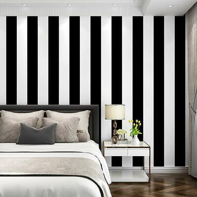 Self Adhesive Vinyl White Black Stripe Contact Paper Peel and Stick Wallpaper 3D Black Vinyl Self Adhesive