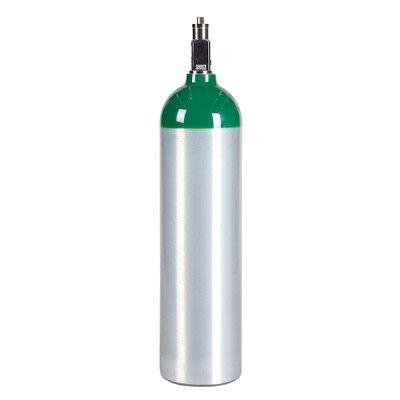 Medical D Aluminum Oxygen Cylinder New - 14.6 Cu Ft - Cga870 Post Valve