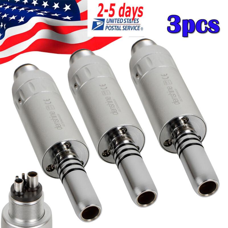 3pcs Dental Inner Water Air Motor 4 Hole Push Slow Speed Handpiece Low Noise FDA