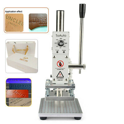 8x10CM Hot Foil Stamping Machine Leather Craft Embossing Logo Printing 110V/220V