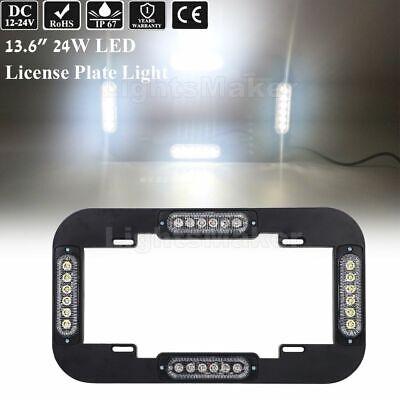 13.6 Led Warn Flash Emergency Traffic Advisor Strobe License Plate Lights White