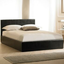 LIMITED STOCK - Double Leather Bed + Deep Quilted Mattress --Very Cheap Price- Express Delivery