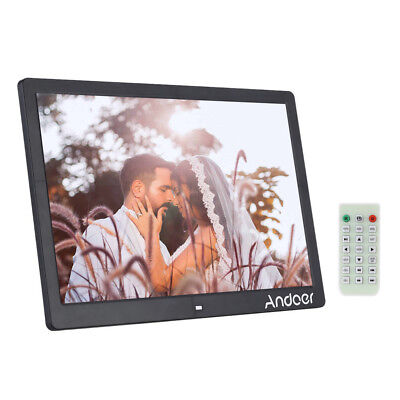"15.6""HD 1080P LED Digitaler Bilderrahmen Alarm MP3/4 Media Video Spieler Fern DE"