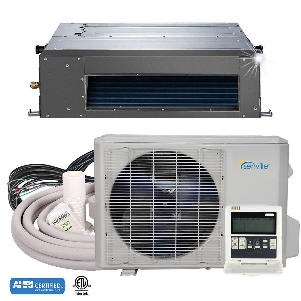 24000 BTU Concealed Duct Mini Split Air Conditioner and Heat