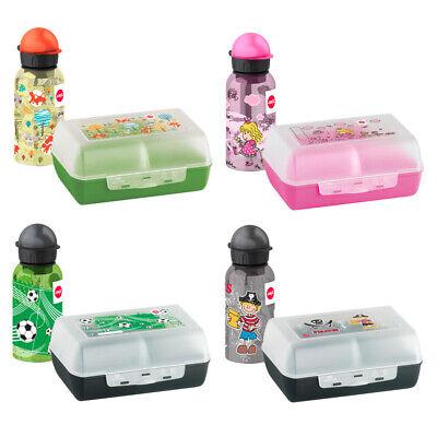 emsa KIDS Set Trinkflasche + Brotdose Schule Kindergarten für Junge Mädchen