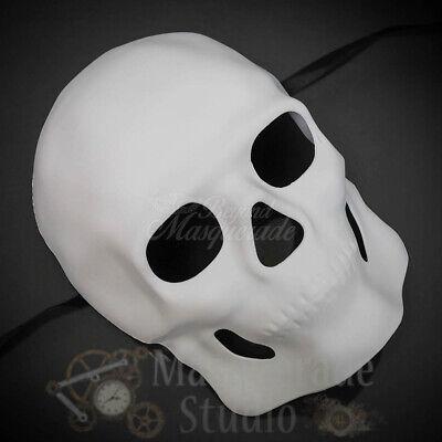 All White Mask (Mens Day of the Dead Full Face Skull All White DIY Halloween Masquerade)