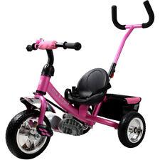 Tricycle pour enfant rose avec barre à pousser Vélo 3 roues Tricycle - Cyclisme