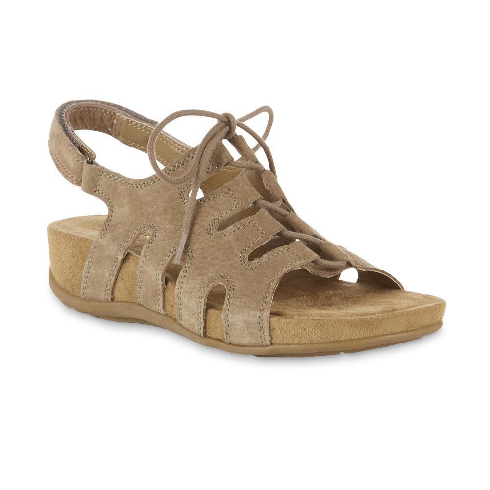 Cobbie Cuddlers Women's Maizie Brown Lace-Up Sandal Shoes Si