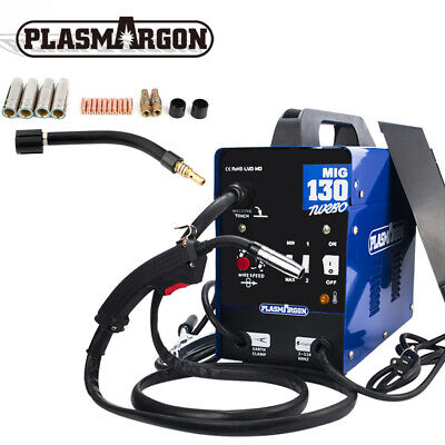 130a Mig Welder Flux Cored Welding Machine Gasless Auto Wire Dc 110v 19pcs Kits