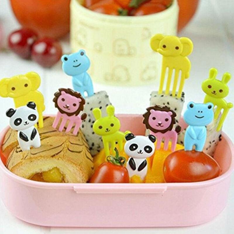 30 stücke Cartoon Tiere Obst Gabeln Kinder Mini Essen Picks Nette Salat