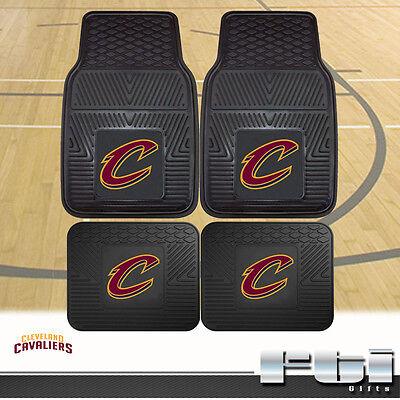 (Cleveland Cavaliers NBA Heavy Duty Vinyl 2-Pc & 4-Pc Floor Car Truck SUV Mat Set)