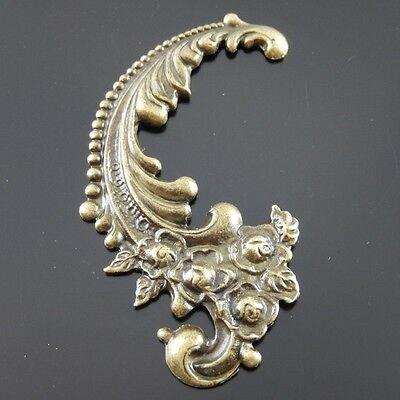 6pcs Antiqued Bronze Alloy Grace Flower Pattern Necklace Pendant Charms - Antiqued Bronze Pattern