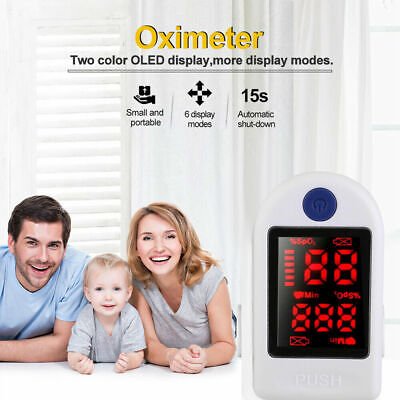 Finger Tip Pulse Oximeter Blood Oxygen Saturation Heart Rate Monitor Meter Spo2